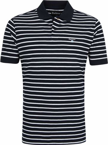 Barbour Poloshirt Stripes Dark Blue