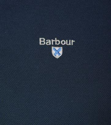 Barbour Poloshirt Uni Blue