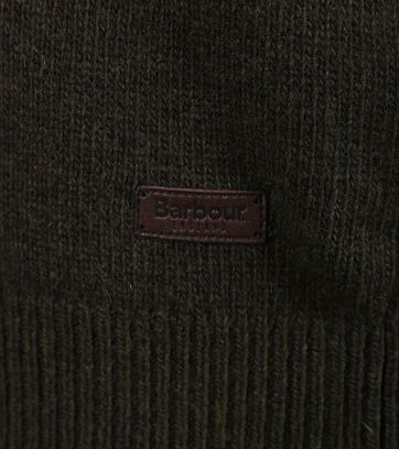 Detail Barbour Pullover Patch Groen