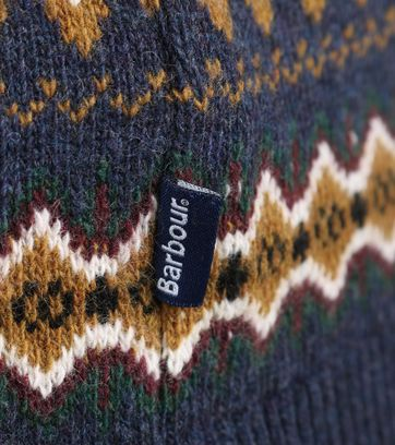 Detail Barbour Pullover Wol Dessin