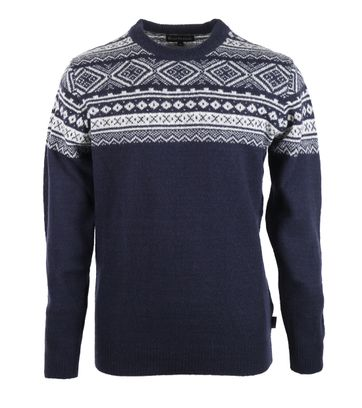 Barbour Pullover Wolle Dunkelblau