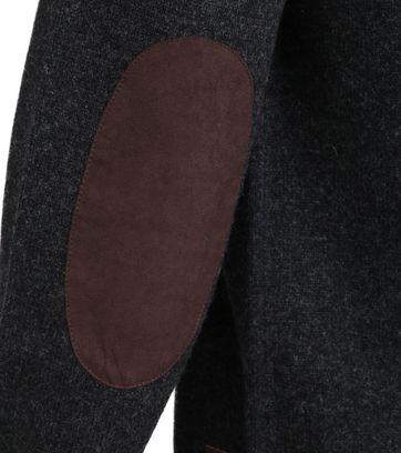 Barbour Pullover Wolle Grün Dunkelgrau