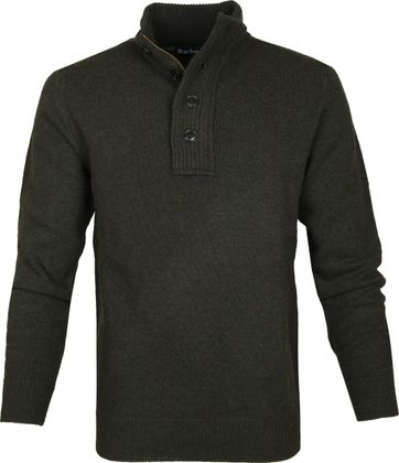 Barbour Pullover Wolle Grün Patch