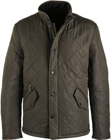 Barbour Quilted Jacket Powell Olive