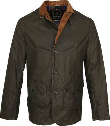 Barbour Sander Wax Jacket Army