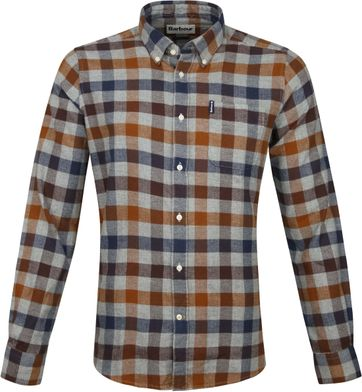 Barbour Shirt Check Copper
