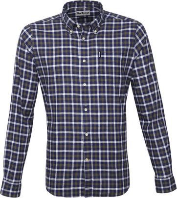 Barbour Shirt Check Indigo Blue