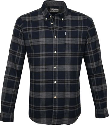 Barbour Shirt Check Navy