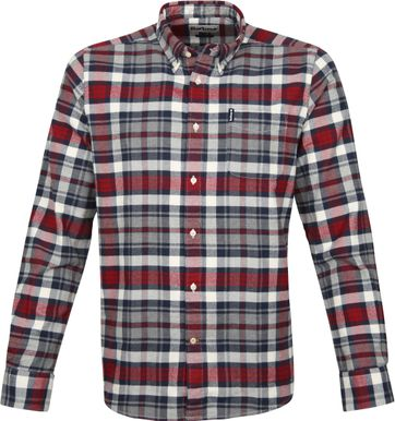 Barbour Shirt Diamant Rot