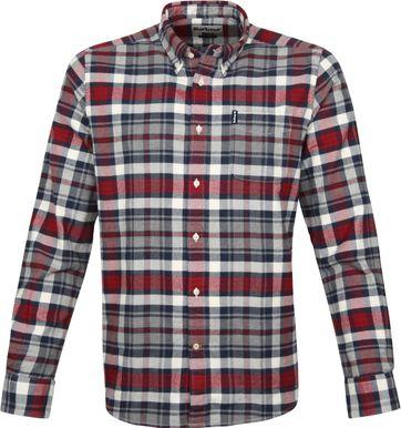 Barbour Shirt Diamant Rot