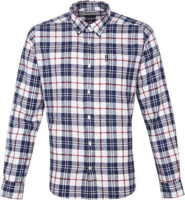 Barbour Shirt Pane Dark Blue