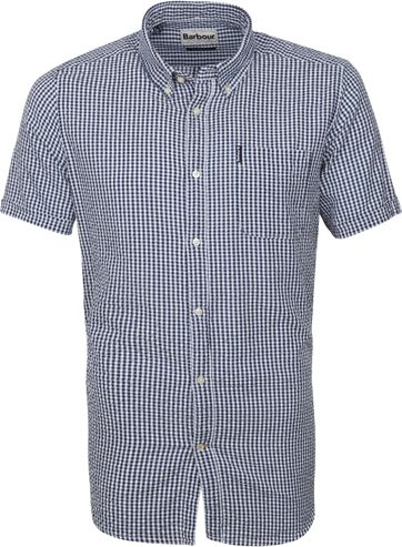 Barbour Shirt SS Pane Blue