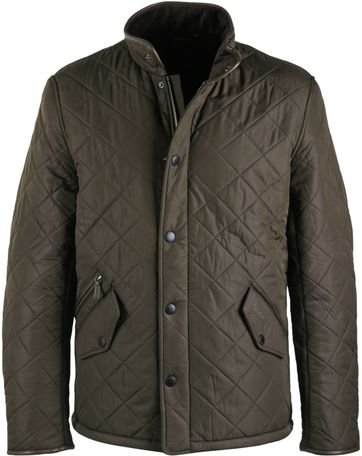 Barbour Steppjacke Powell Olivgrün
