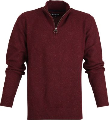 Barbour Tisbury Zip Pullover Burgundy