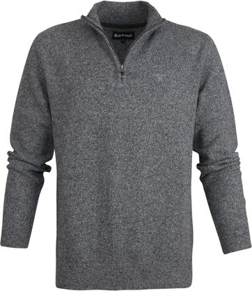 Barbour Tisbury Zip Pullover Grau