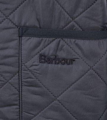 Detail Barbour Voering Polarquilt Blauw