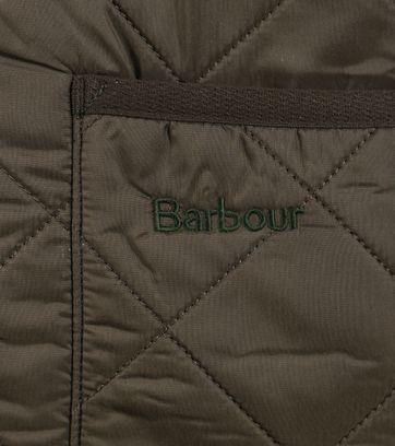 Detail Barbour Voering Polarquilt Groen