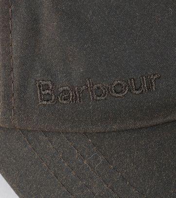 Barbour Wachs Kappe Olivgrün