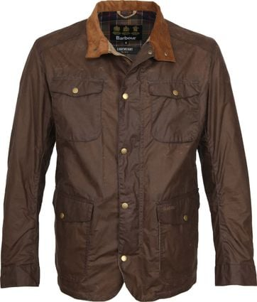Barbour Wachsjacke Ogston Braun