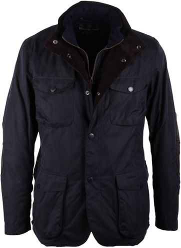 Barbour Wachsjacke Ogston Dunkelblau