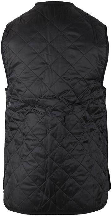 Barbour Waistcoat Quilted Zip-in Black