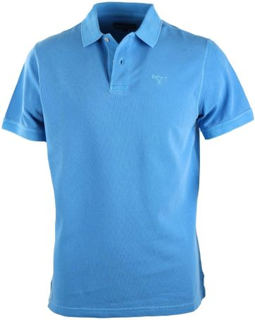 Barbour Washed Polo Blau