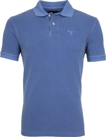 Barbour Washed Polo Blue