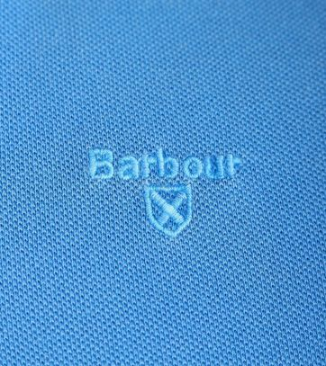 Detail Barbour Washed Polo French Blue