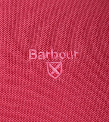 Detail Barbour Washed Polo Fuchsia
