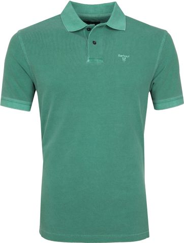 Barbour Washed Polo Green
