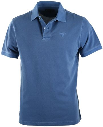 Barbour Washed Polo Marine Blau
