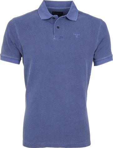 Barbour Washed Poloshirt Blau