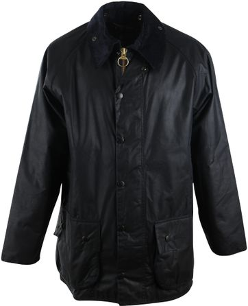 Barbour Wax Coat Beaufort Navy