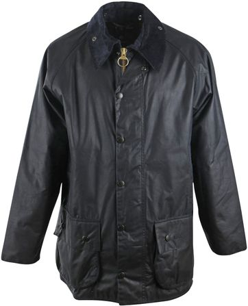 Barbour Wax Coat Beaufort Navy