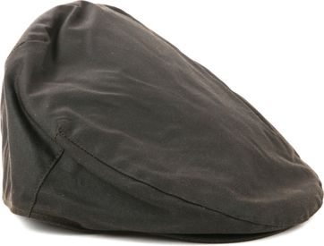 Barbour Wax Flat Cap Grün