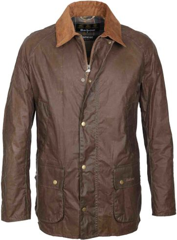 Barbour Wax Jacke Ashby Braun