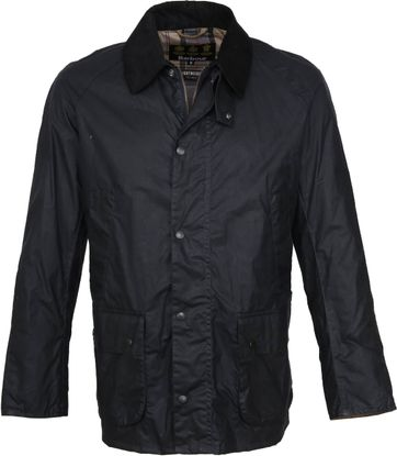 Barbour Wax Jacket Ashby Navy
