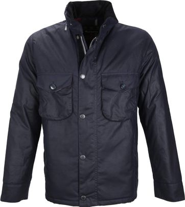 Barbour Wax Jacket Netherley Navy