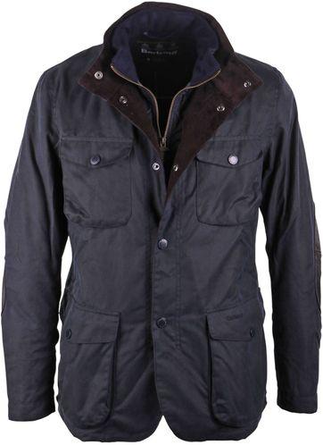 Barbour Wax Jacket Ogston Dark Blue