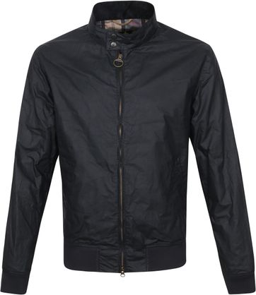 Barbour Wax Jacket Royston Navy