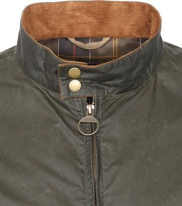 Barbour Wax Jacket Royston Olive Green