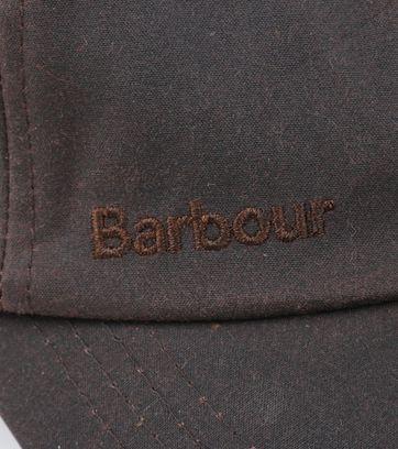Detail Barbour Wax Kappe Braun