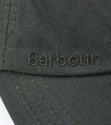 Detail Barbour Wax Kappe Grün
