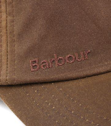 Detail Barbour Wax Kappe Hellbraun