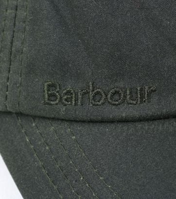 Detail Barbour Wax Pet Groen