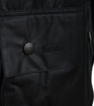 Detail Barbour Waxjas Beaufort Donkerblauw
