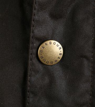 Detail Barbour Waxjas Hereford Olive