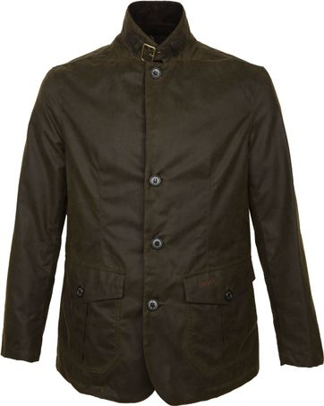 Barbour Waxjas Lutz Olive