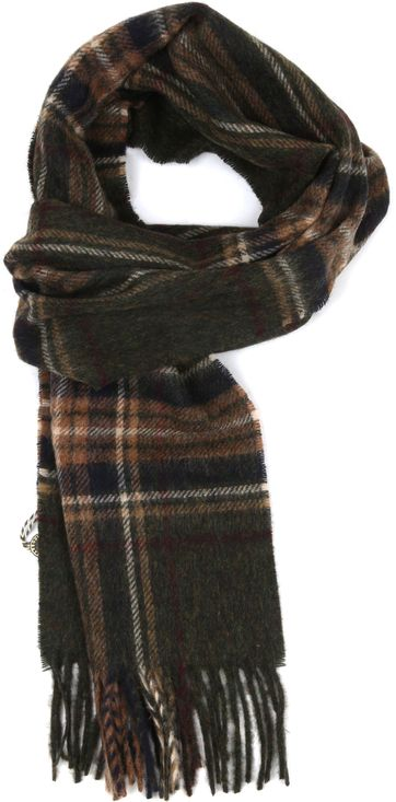 Barbour Wool Scarf Elwood Olive