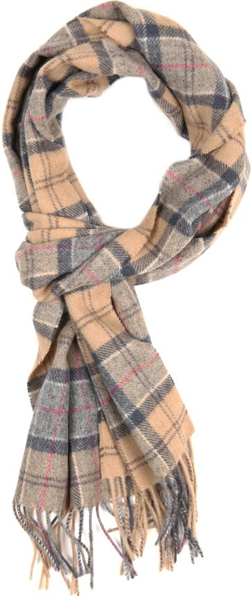 BarbourScarfs Tartan Lambswool Beige